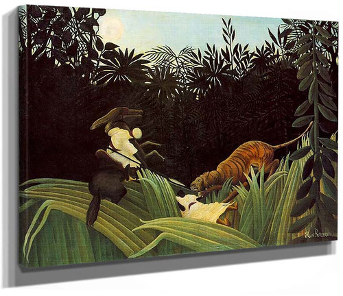Scout Attacked By A Tiger 1904 By Henri Rousseau