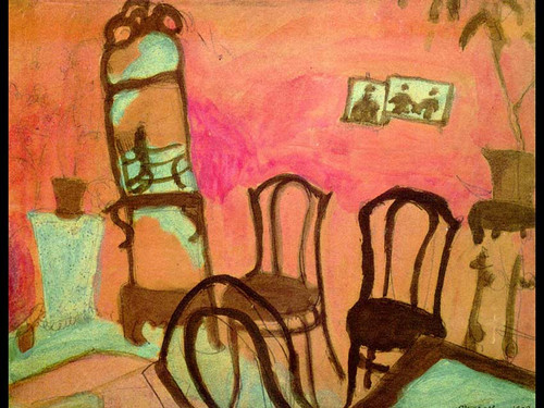Small Drawing Room 1908 By Marc Chagall