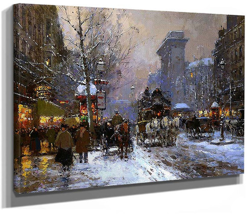 St Denis Winter By Edouard Cortes