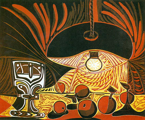Still Life By Lamplight By Pablo Picasso