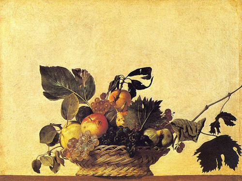 Still Life With A Basket Of Fruit By Caravaggio