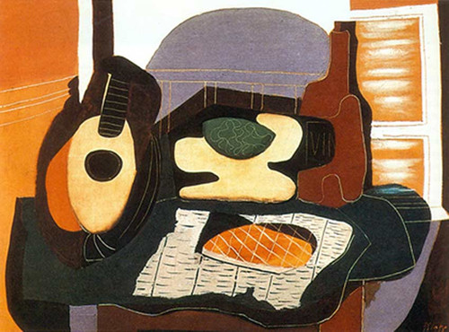 Still Life With A Cake By Pablo Picasso