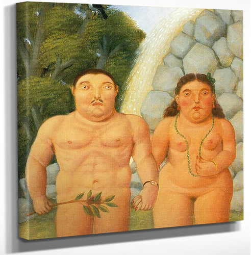 The Couple by Fernando Botero Art Reproduction from Wanford.
