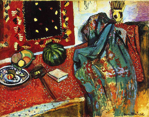 Still Life With A Red Rug 1906 By Henri Matisse