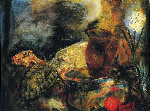 Still Life With A Slaughtered Lamb By Oskar Kokoschka