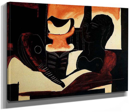 Still Life With Antique Bust 1925 By Pablo Picasso