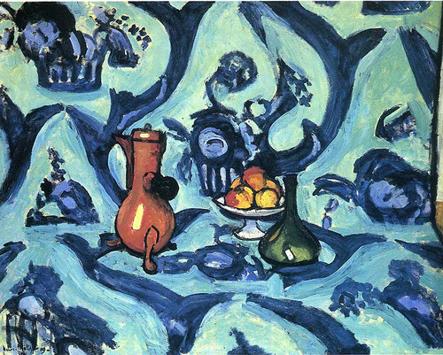 Still Life With Blue Tablecloth 1906 By Henri Matisse