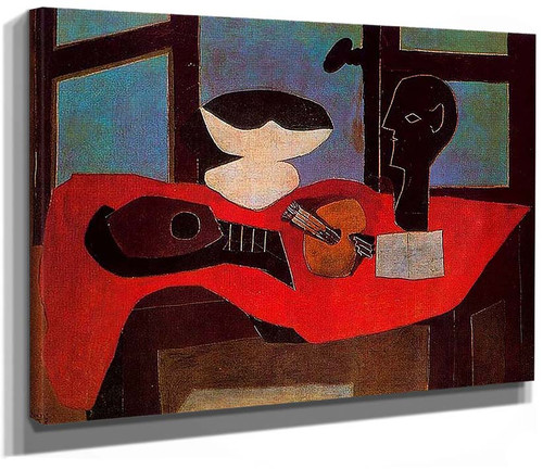 Still Life With Bust And Palette By Pablo Picasso