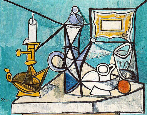 Still Life With Lamp 1944 By Pablo Picasso