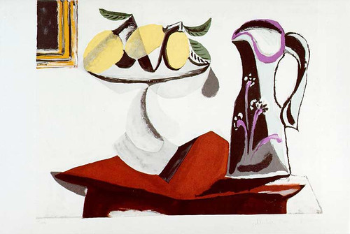 Still Life With Lemon And Jug 1936 By Pablo Picasso