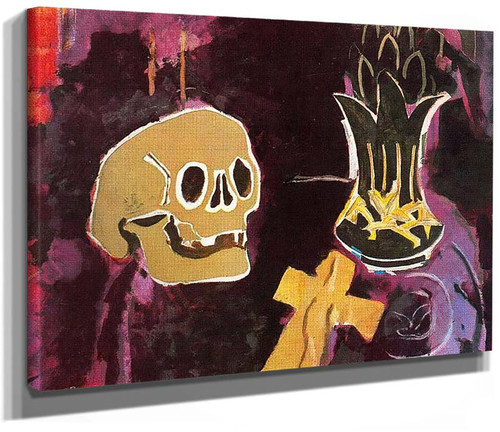 Still Life With Skull By Georges Braque