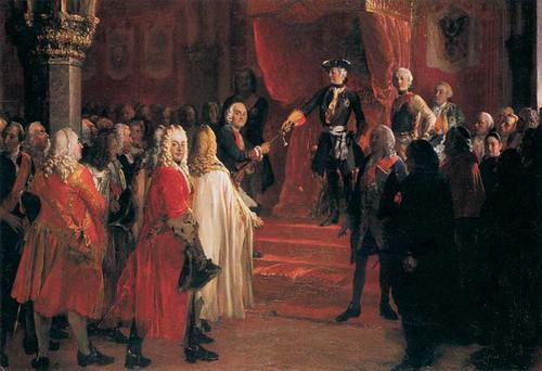 The Allegiance Of The Silesian Diet Before Frederick Ii In Breslau By Menzel Adolph Von