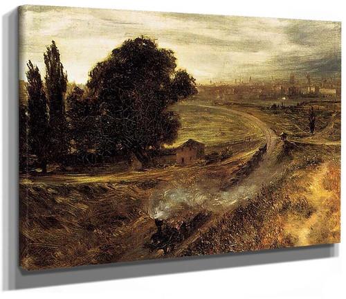 The Berlin Potsdam Railway By Menzel Adolph Von
