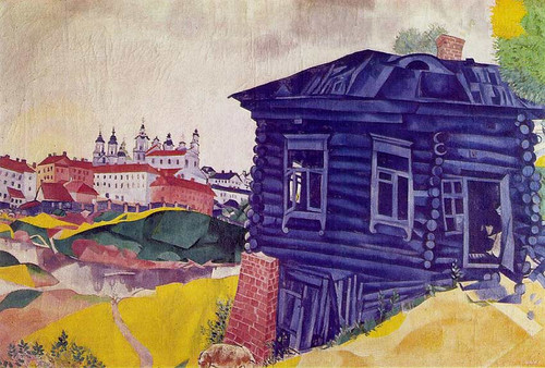 The Blue House 1917 By Marc Chagall