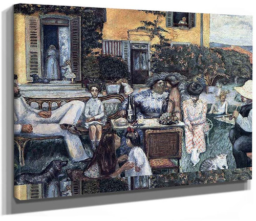 The Bourgeois Afternoon Or The Terrasse Family 1900 By Pierre Bonnard