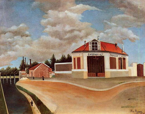 The Chair Factory At Alfortville 1 By Henri Rousseau