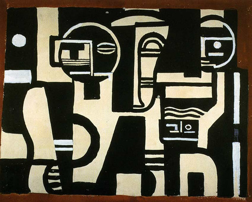 The Creation Of The World Drawing Of Curtain Of Scene 1923 By Fernand Leger