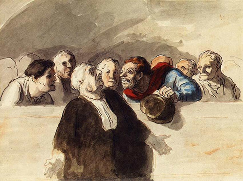The Defense Attorney By Daumier Honore