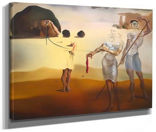 The Enchanted Beach By Salvador Dali