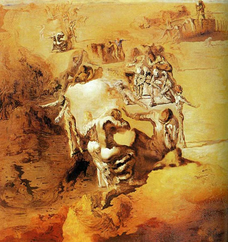 The Great Paranoiac 1936 By Salvador Dali Art Reproduction from Wanford.