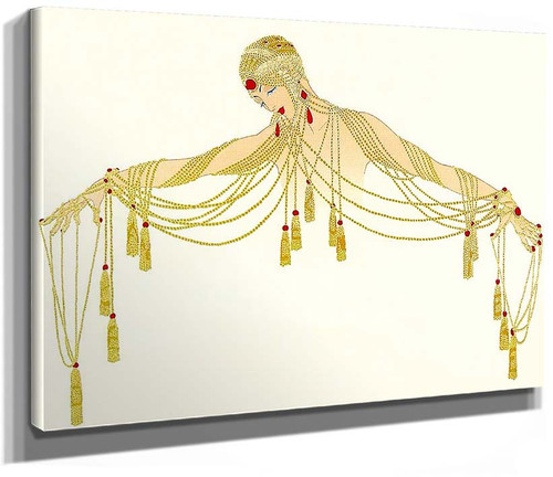 The Golden Pearls By Erte