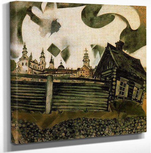 The House In Grey 1917 By Marc Chagall Art Reproduction from Wanford.
