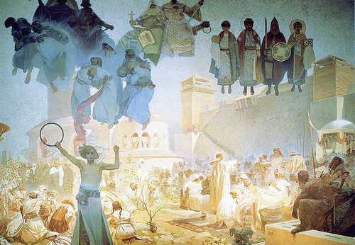The Introduction Of The Slavonic Liturgy 1912 By Alphonse Mucha