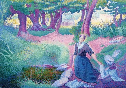 The Laundress By Henri Edmond Cross