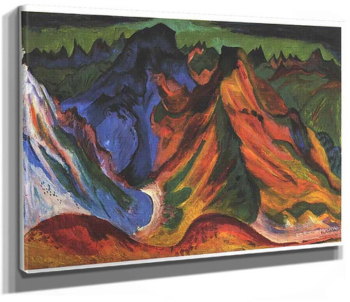 The Mountain By Ernst Ludwig Kirchner