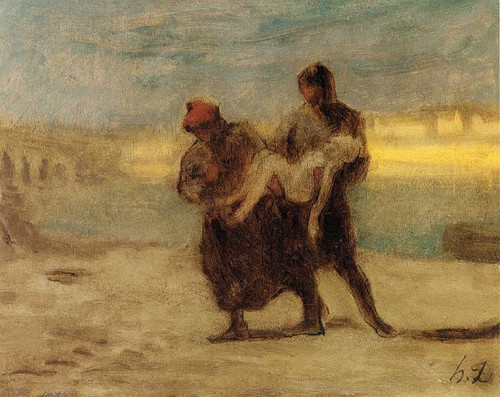 The Rescue By Daumier Honore
