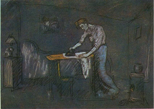 The Room Of The Ironer 1904 By Pablo Picasso