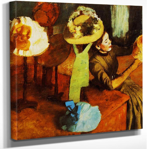 The Millinery Shop 1884 By Edgar Degas Art Reproduction from Wanford.