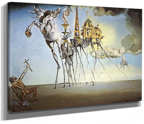 The Temptation Of St Anthony By Salvador Dali