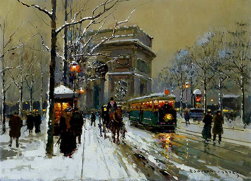 The Triumphal Arc Winter By Edouard Cortes