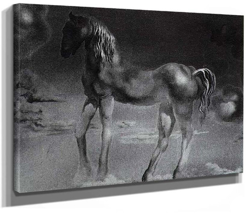 The Unicorn Unfinished By Salvador Dali