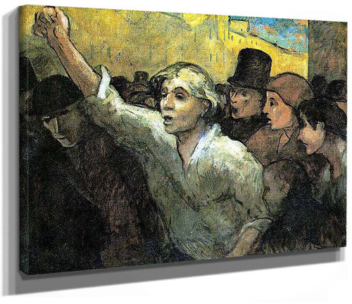 The Uprising By Daumier Honore