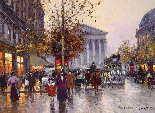 The View From Madeleine La Rue Royale By Edouard Cortes
