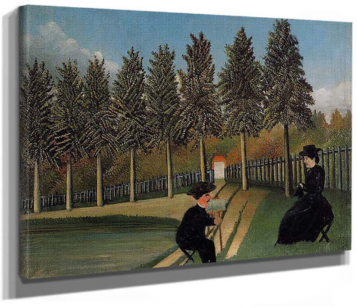 The By Painting His Wife 1905 By Henri Rousseau