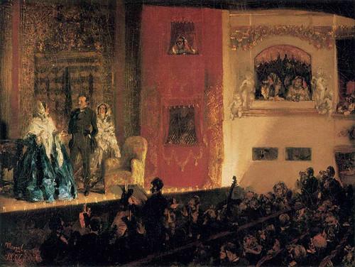 Theatre Du Gymnase By Menzel Adolph Von