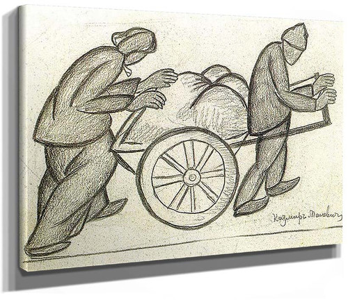 Two And A Pushcart 1911 By Kazimir Malevich Art Reproduction From Wanford