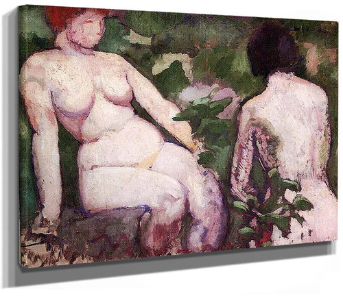 Two Nudes 1910 By Duchamp Marcel