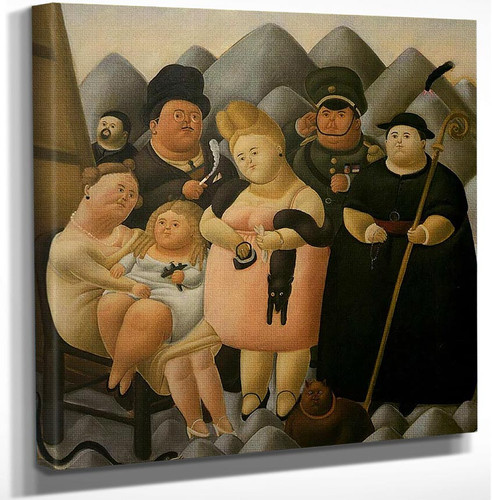 The Presidents Family By Fernando Botero Art Reproduction from Wanford.