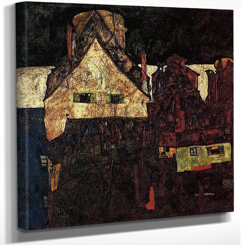 The Small City Dead City 1912 By Egon Schiele Art Reproduction from Wanford.