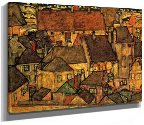 Yellow City 1914 By Egon Schiele