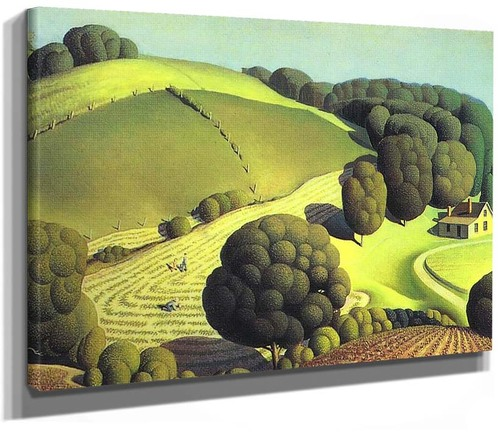 Young Corn 1931 By Grant Wood