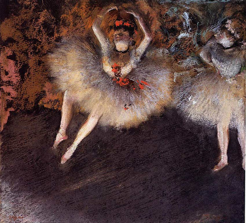 The Step With Battement 1879 By Edgar Degas Art Reproduction from Wanford.