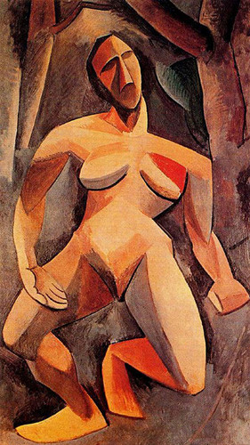 A Driade Nude In The Forest 1908 By Pablo Picasso Art Reproduction from Wanford