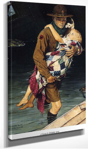 A Scout Is Helpful 1941 By Norman Rockwell