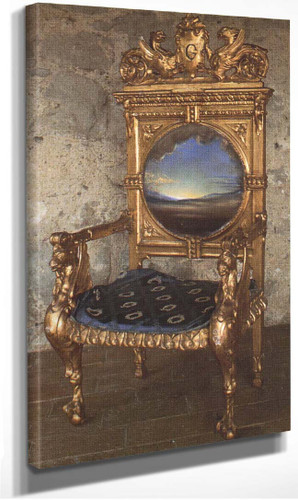 Armchair With Landscape Painted For Gala S Chateau At Pubol By Salvador Dali