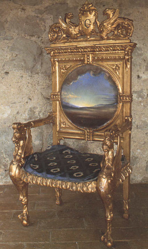 Armchair With Landscape Painted For Gala S Chateau At Pubol By Salvador Dali Art Reproduction from Wanford